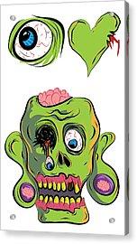 I Heart Zombies / I Love Zombies Acrylic Print by Jera Sky
