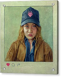 I Hearted This Girl Acrylic Print by James W Johnson