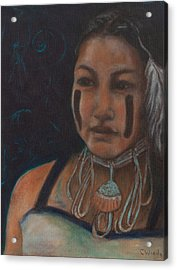 Acrylic Print featuring the painting I Hold The Knowledge Inside by Carla Woody