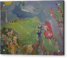 Acrylic Print featuring the painting I Hope Fairies Are Real by Judith Desrosiers