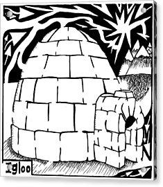 I Is For Igloo Maze Acrylic Print by Yonatan Frimer Maze Artist