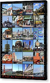 I Left My Heart In San Francisco 20150103 Vertical With Text Acrylic Print