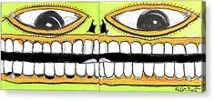 I Like 2 Smile Acrylic Print by Robert Wolverton Jr