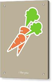 I Like You My Carrot. Acrylic Print by Lina Tumarkina