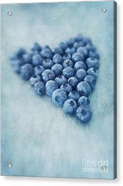 I Love Blueberries Acrylic Print by Priska Wettstein