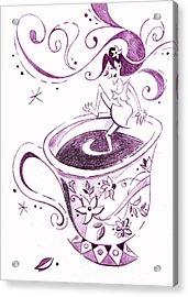 I Love Coffee Illustration - Arte Caffe Acrylic Print by Arte Venezia