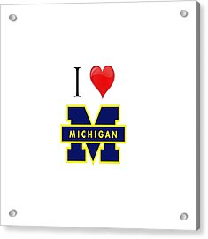 I Love Michigan Acrylic Print