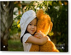 I Love My Teddy Bear Acrylic Print