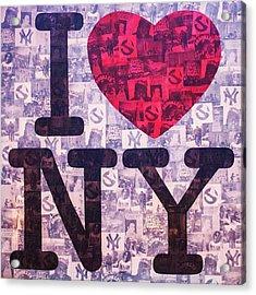 I Love New York Acrylic Print by Brent Andrew Doty
