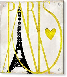 I Love Paris Acrylic Print by Mindy Sommers