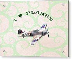 I Love Planes - Hurricane Acrylic Print