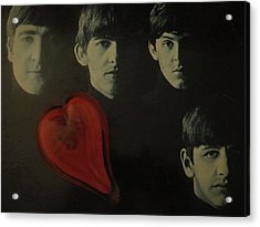 I Love The Early Beatles Music Acrylic Print