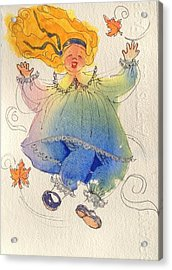 I Love The Wind Acrylic Print by Marilyn Jacobson