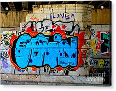 I Love                    ' Graffiti ' Acrylic Print by Urban Artful