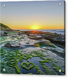 I Love You As Big As The Ocean Too Square    Color Acrylic Print
