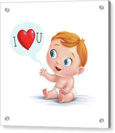 I Love You Baby  Acrylic Print
