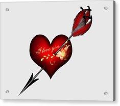 I Love You Heart And Arrow Acrylic Print