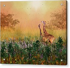 Acrylic Print featuring the photograph I Love You Mom by Diane Schuster