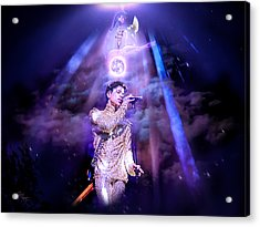 I Love You - Prince Acrylic Print by Glenn Feron