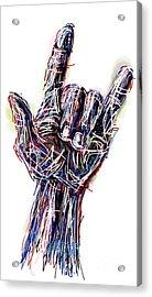 I Love You Acrylic Print by Robert Yaeger