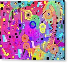 Acrylic Print featuring the digital art I Once Was Happy by Silvia Ganora