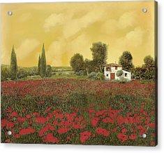 I Papaveri E La Calda Estate Acrylic Print by Guido Borelli