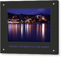 I Reflect On Beauty Of The World Acrylic Print by Donna Corless