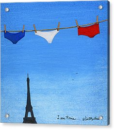 Acrylic Print featuring the painting I See Paris... by Will Bullas