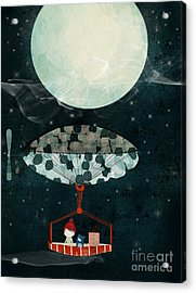 Acrylic Print featuring the painting I See The Moon Too by Bri B