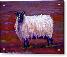 Acrylic Print featuring the painting I See You by Marie Hamby
