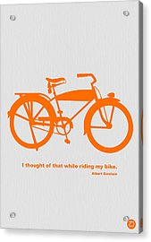 I Thought Of That While Riding My Bike Acrylic Print by Naxart Studio