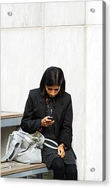 I Thought We Had Stopped Texting Acrylic Print by Jez C Self