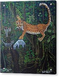 I Want To Live Jaguar Acrylic Print by Kayum Ma'ax Garcia