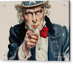 I Want You For U S Army Acrylic Print by MotionAge Designs