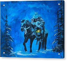 Acrylic Print featuring the painting I Will Carry You by Leslie Allen