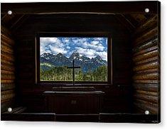 I Will Lift Up My Eyes Unto The Hills Acrylic Print by Andrew Soundarajan