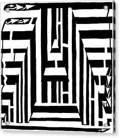 I Would Like To Maze A Vowel Acrylic Print by Yonatan Frimer Maze Artist