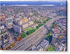 I5 Seattle Aerial View Acrylic Print
