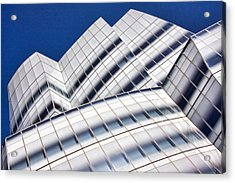 Iac Building Acrylic Print by June Marie Sobrito