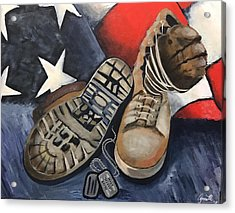 Ians Boots V3 Acrylic Print by Annette Torres