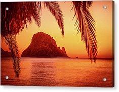 Ibiza Sunset Acrylic Print by Iryna Goodall