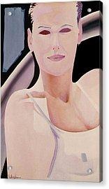 Ibiza Woman Number One Acrylic Print by Geoff Greene