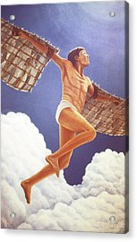 Icarus Ascending Acrylic Print by Laurie Stewart