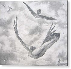 Icarus Suits Acrylic Print by Julianna Ziegler