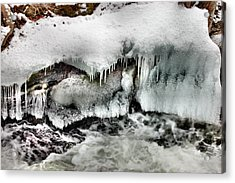 Ice 3 Acrylic Print by Rick Couper