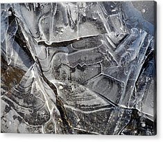 Ice Abstract Acrylic Print by Lynda Lehmann