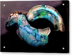 Acrylic Print featuring the photograph Ice And Colors Abstract by Rico Besserdich