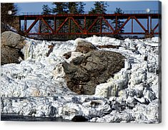 Ice And Steel Acrylic Print by Olivier Le Queinec