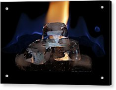 Acrylic Print featuring the photograph Ice Art No 16 by Rico Besserdich