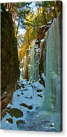 Ice At The Flume Acrylic Print